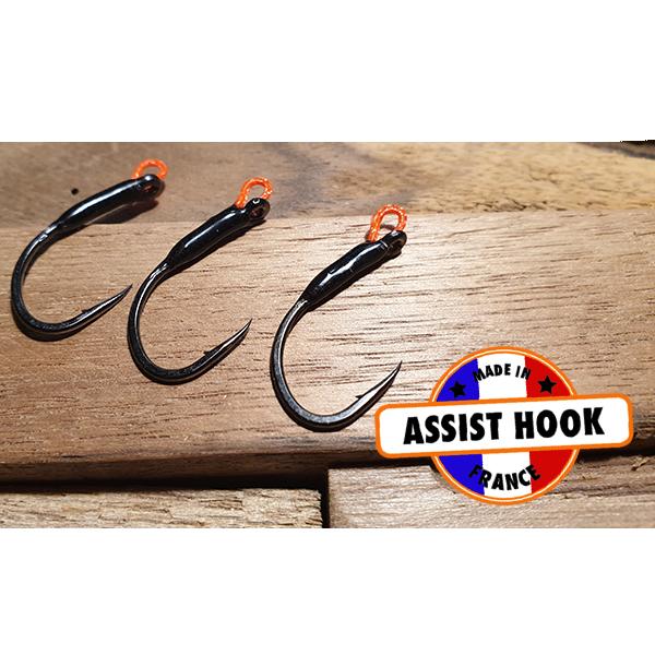 assit hook truite fait main pour poisson nageur fait main ou usine