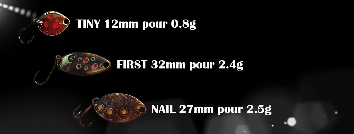cuillère ondulante pour la truite faite à la main