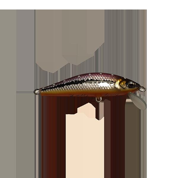 leurre pêche truite fait à la main. Il est redoutable sur les pêches de la truite en rivières. Sa nage est extrêmement riche en animations diverses.