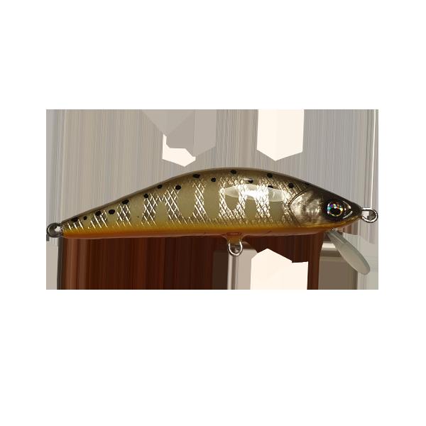 leurre pêche truite fait à la main. Il est redoutable sur les pêches de la truite. Sa nage est extrêmement riche en animations diverses.