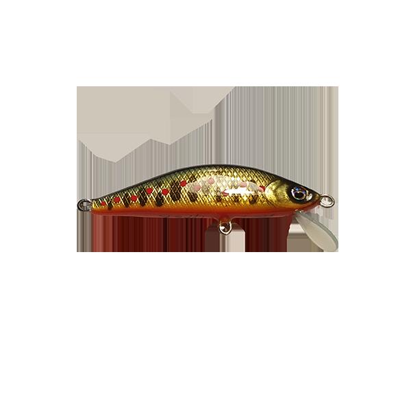 leurre pêche truite fait à la main. Il est redoutable sur les pêches des truites en rivières. Sa nage est extrêmement riche en animations diverses.