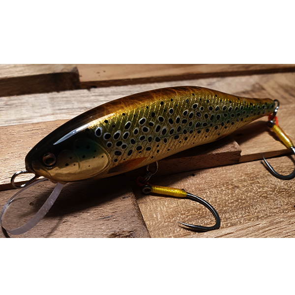poisson nageur fait main coloris naturel pour pêcher les grosses truites