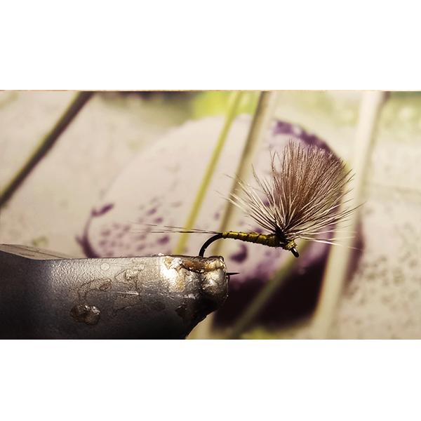montage parachute pêche à la mouche.