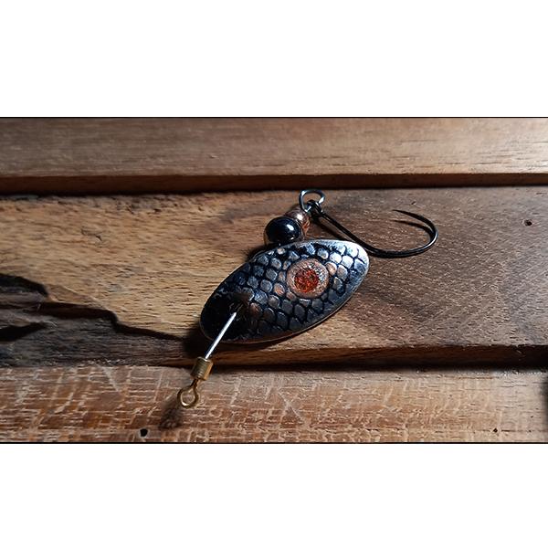 mini cuillère tournante faite à la main pour la truite l'été